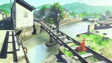 AIR画像、聖地巡礼の和歌山県美浜町西御坊駅周辺の廃線跡