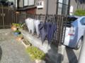 [金沢区]傘を干す