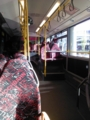 ハンブルクで乗ったバス。なんかライトレールみたいと思ったけど、