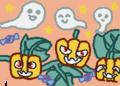 おばけカボチャと幽霊ハロウィンですね!