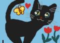 蝶々と黒猫 春爛漫 ♪