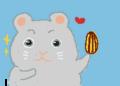 カロリーハーフなヒマワリのタネでダイエットするハムスターくんなの