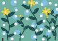 小雨降る真夜中に咲く黄色い花