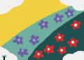 花咲く丘の坂道