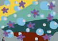 空想世界 漂う夜露に咲く紫の花