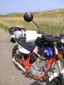 [バイク]あぜ道でこける