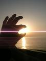 [海][夕日]日本海に沈む夕陽