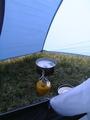 [キャンプ]前室で紅茶を煎れる