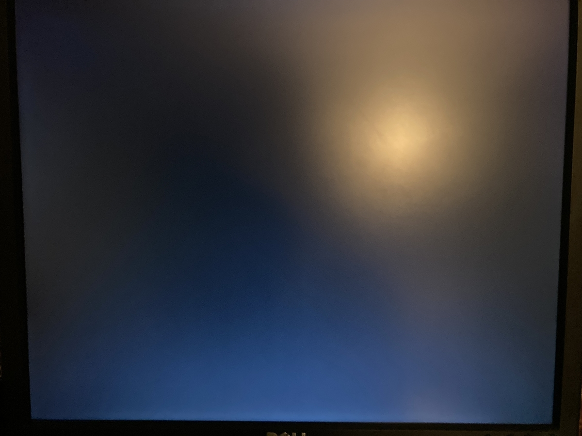 真っ黒のスクリーン