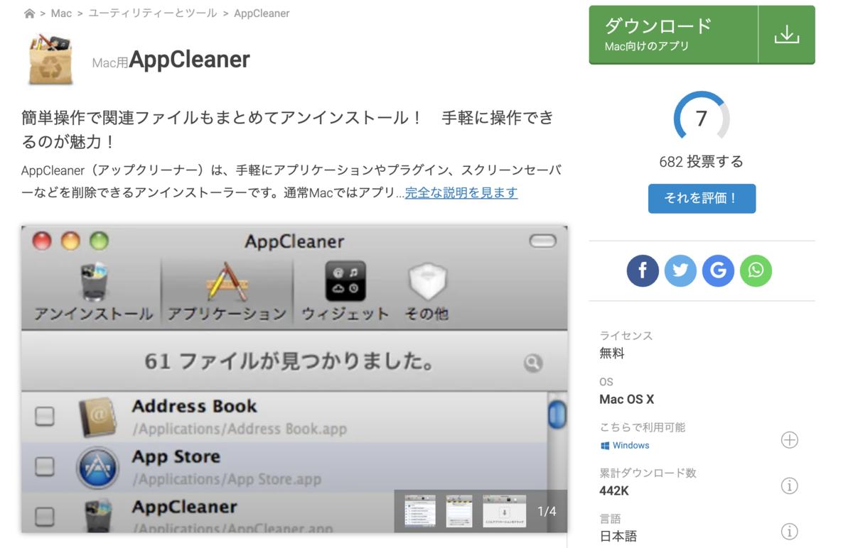 画像:AppCleaner