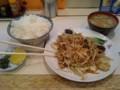 肉野菜炒め定食@千成_平塚