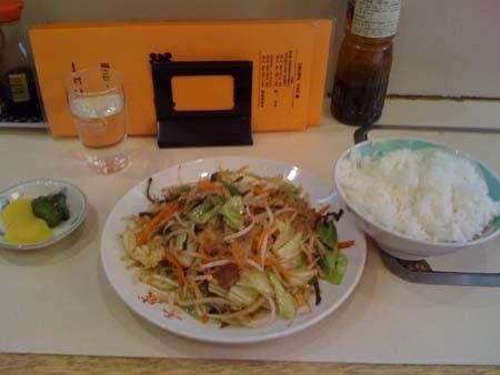肉野菜炒め定食@千成 平塚