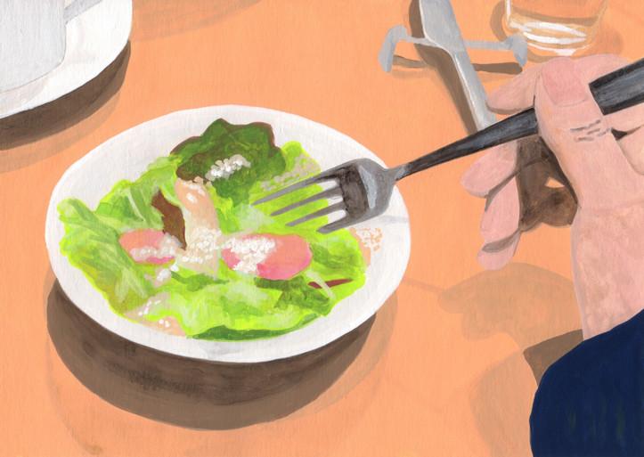 食べ物_サラダ_林けいか