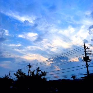 仕事場からの梅雨明けの夕空