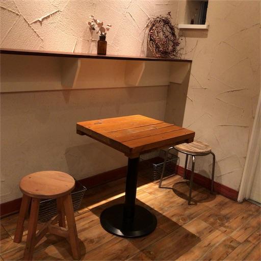 【みずいろこーひー】店内のテーブル席