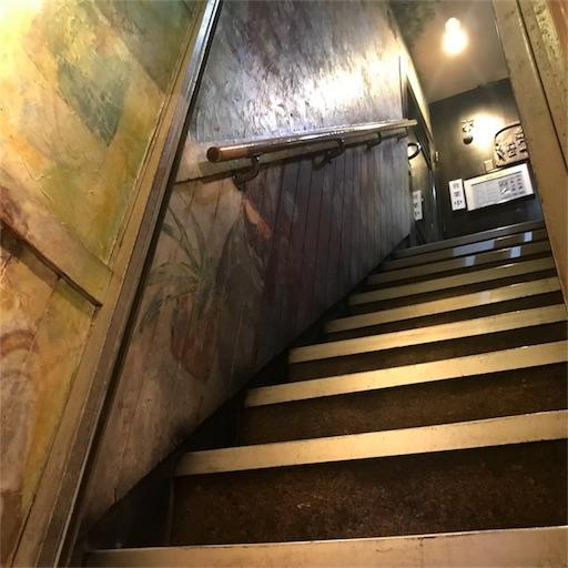 古瀬戸珈琲店へと続く狭くて急な階段