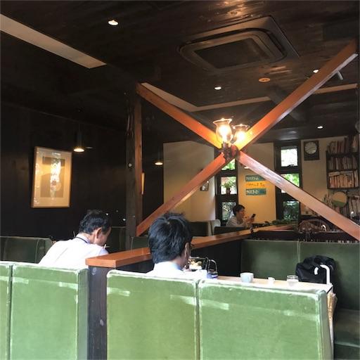 【珈琲 穂高】の山小屋のような店内空間