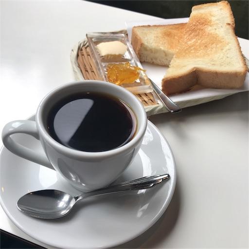ホットコーヒーとトースト