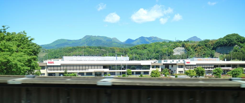 北陸新幹線の車窓から撮影した日本精工榛名工場