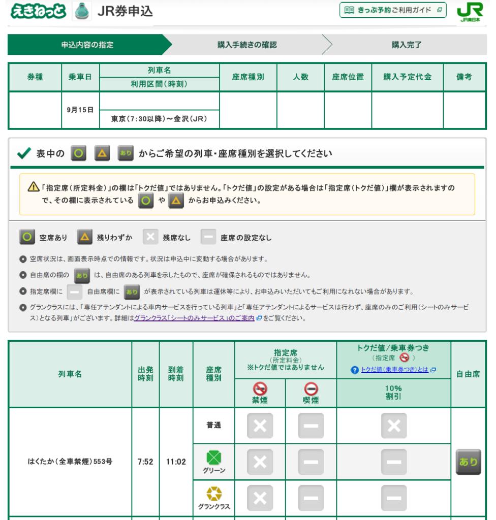 席 状況 予約 指定 新幹線