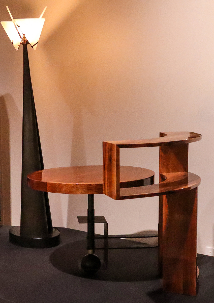 """Pierre Chareau, Desk with a Bookshelf and Floor Stand, """"Nun,"""" at National Crafts Museum, in Kanazawa, Japan."""