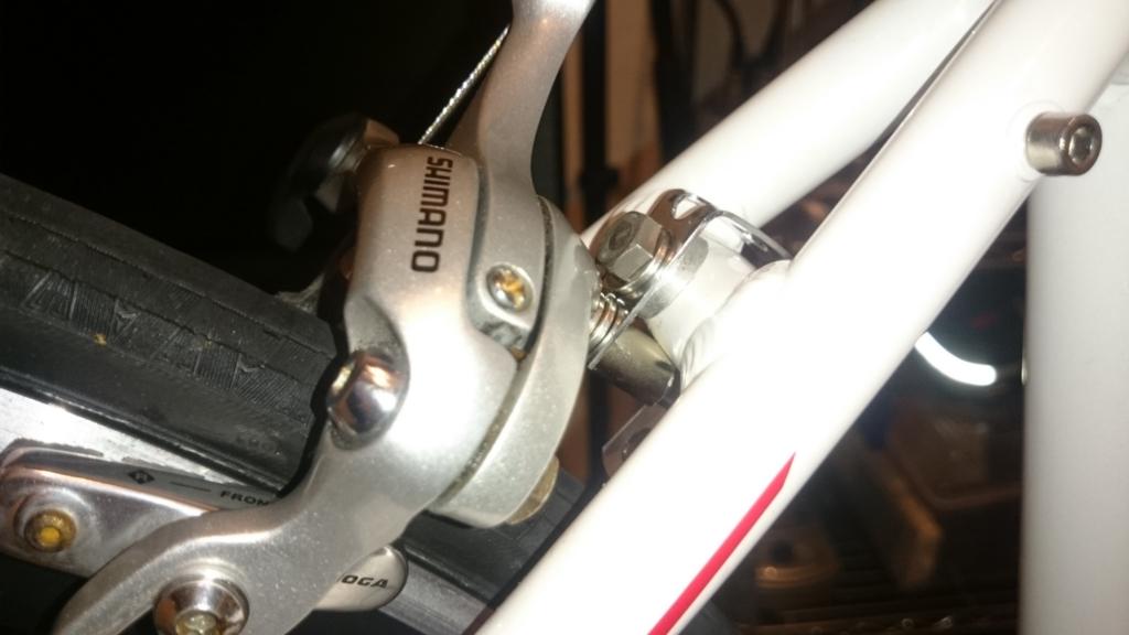 クロスバイク キャリパーブレーキ DIY