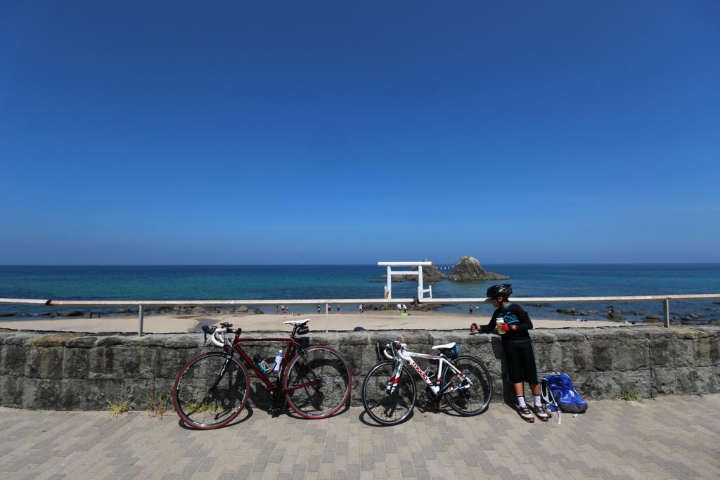 糸島 ロードバイク ポタリング 二見ヶ浦