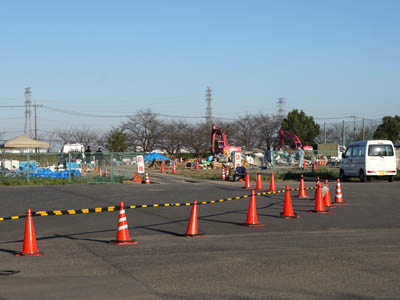 台風19号の浸水被害により発生した災害ゴミを受け入れている仮置き場(坂戸市)