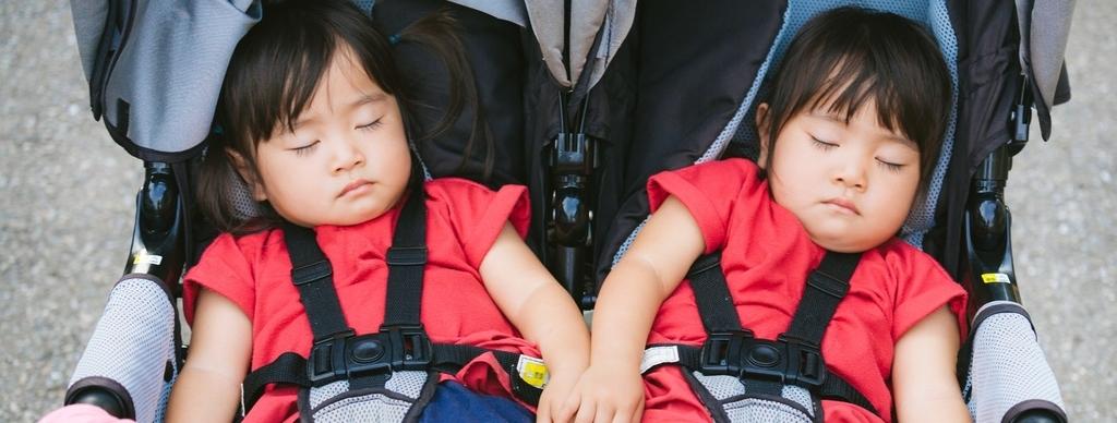 2足と双子をかけた画像