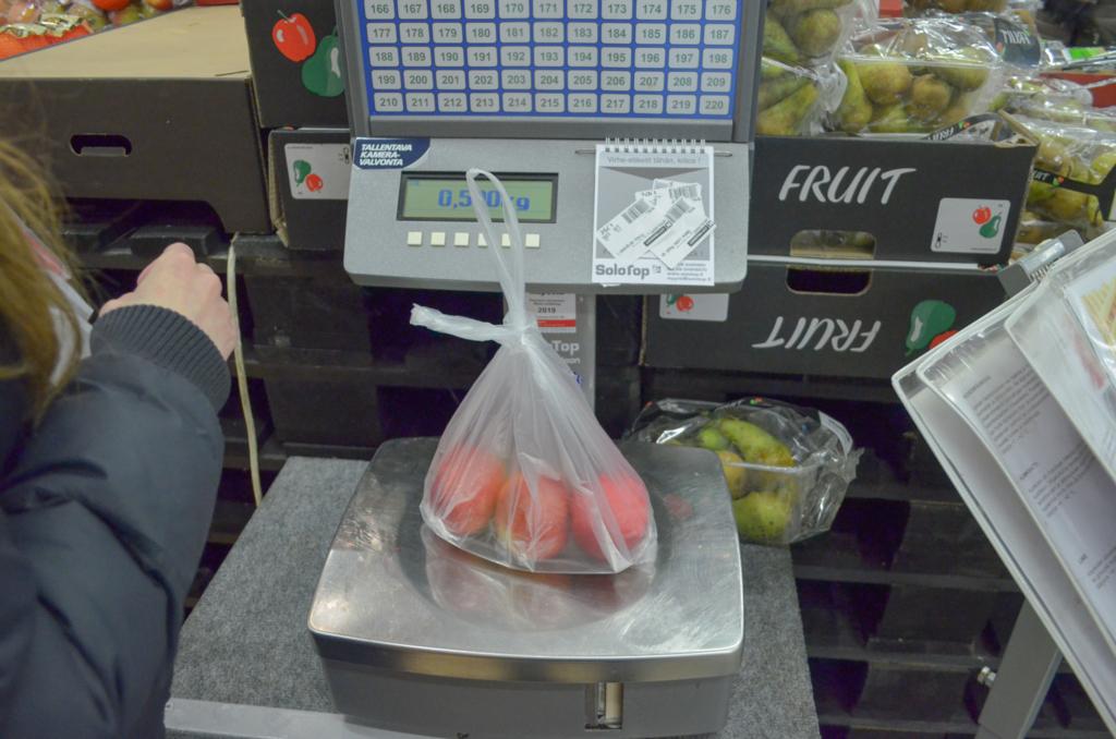 リンゴの重さを量る