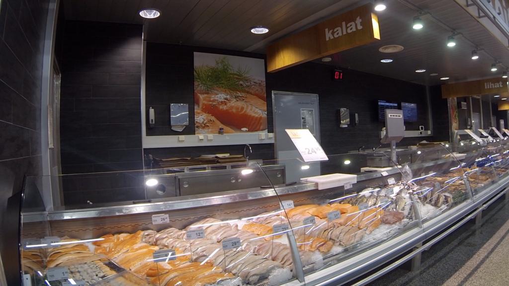 フィンランドの鮮魚コーナー
