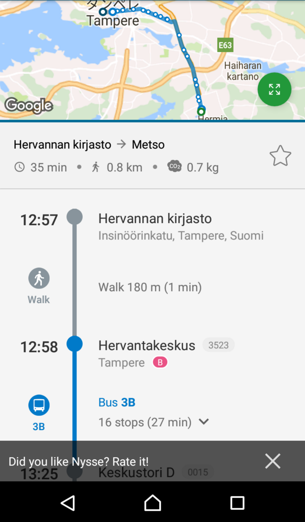 Nysse app android