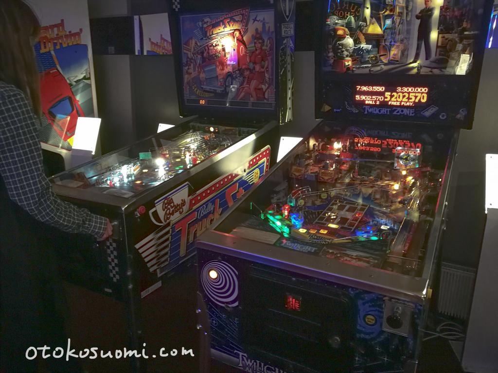 ゲームミュージアム内ではピンボールマシンも完璧な状態で遊べる