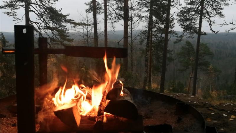 焚き火に着火
