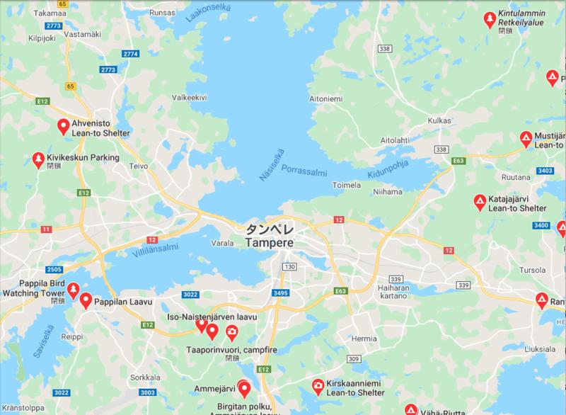 私の住むタンペレ市近郊にも多くのラーヴが設置されてる