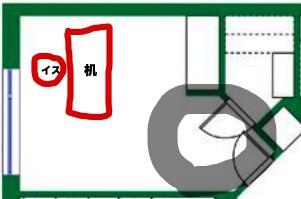 入り口が視界に入るデスク配置