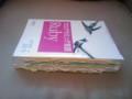 厚さ2.5cmの本が付箋紙で3.9cmに!