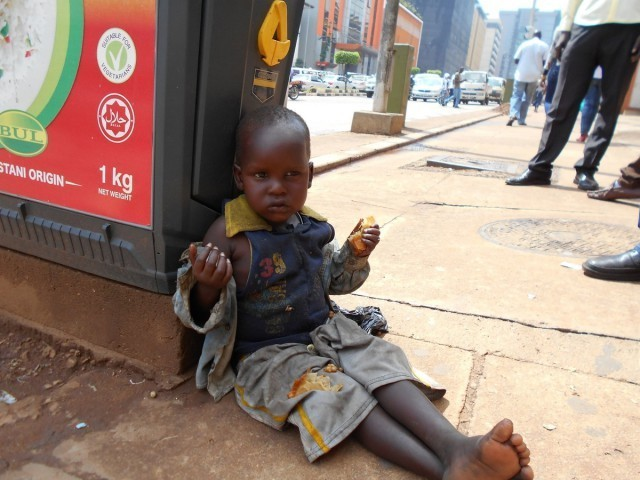 ウガンダの物乞い