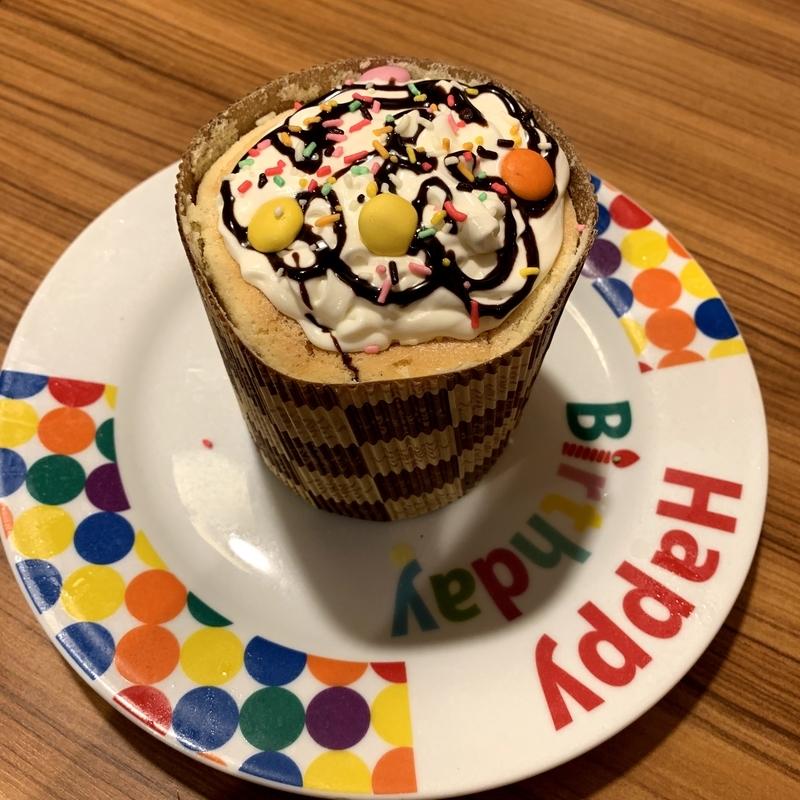 ブロンコビリーで子供の誕生日にプレゼントされたケーキ