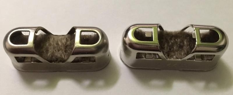 ハクキンカイロ換火口 旧型と新型 触媒部の比較