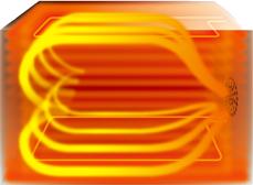 コンベクションによる熱の対流イメージ