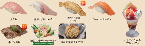かっぱ寿司食べ放題 プレミアムメニュー