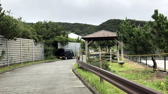 天気の子 神津島の東屋