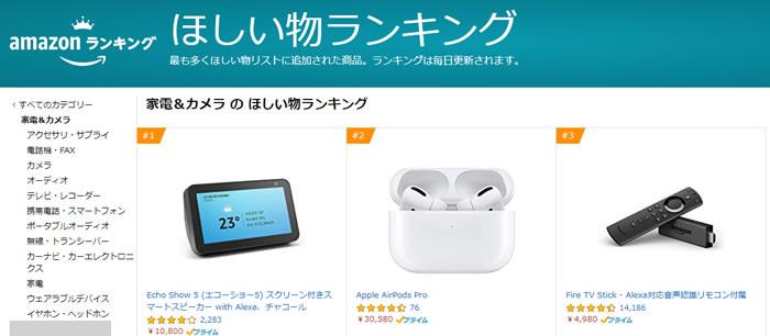 amazon欲しい物ランキングでセール直前の人気商品がわかる