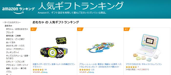 amazon人気ギフトランキングでみんながプレゼントしている商品がわかる