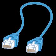 昔はLANケーブルでつなぐ有線LANが一般的だった