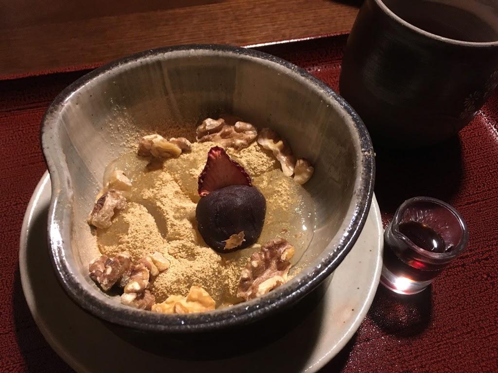 「界 鬼怒川」夕食 あんみつ