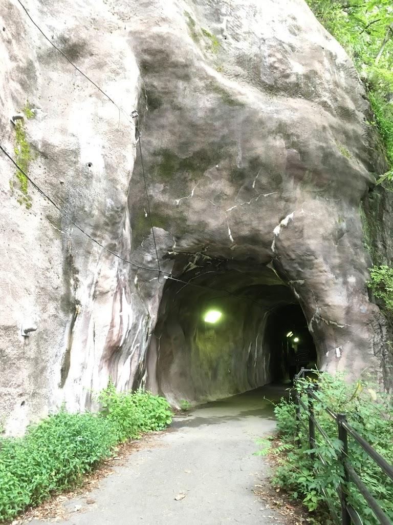 鬼怒楯岩大吊橋 展望台に向かう途中のトンネル
