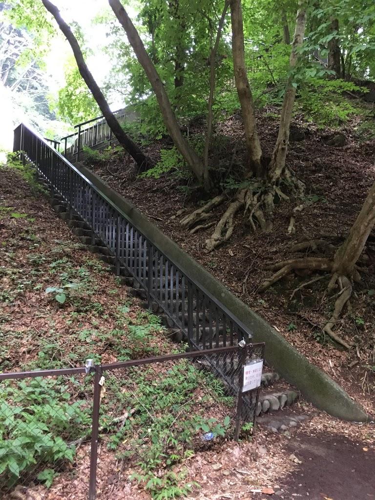 鬼怒楯岩大吊橋 展望台への階段