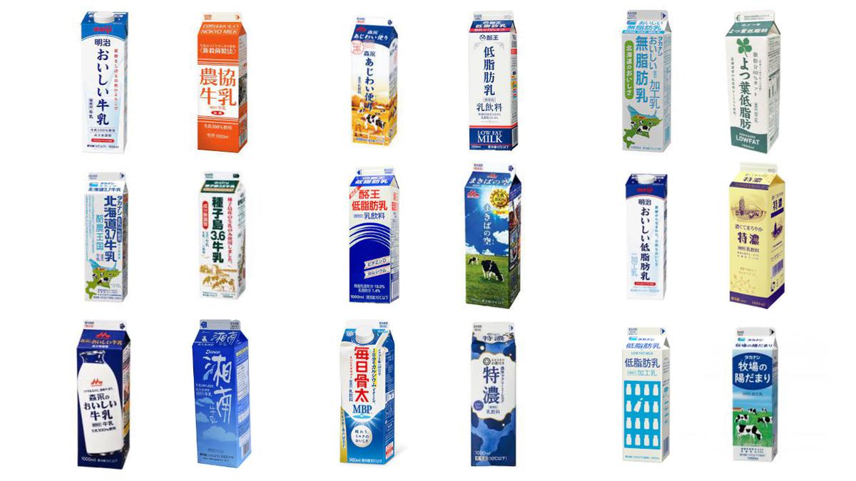 牛乳、乳飲料、加工乳、それぞれの違いを徹底解説